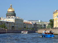 Boat trip along the rivers and canals of St Petersburg